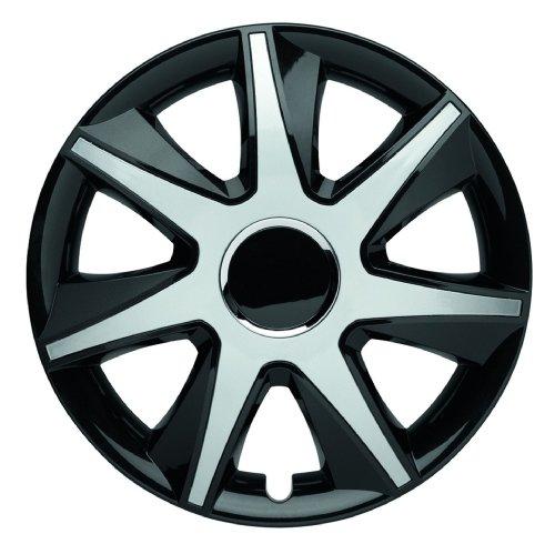 ALBRECHT automotive 49445 Radzierblende RUN III 15 Zoll, 1 Satz, Schwarz/Silber