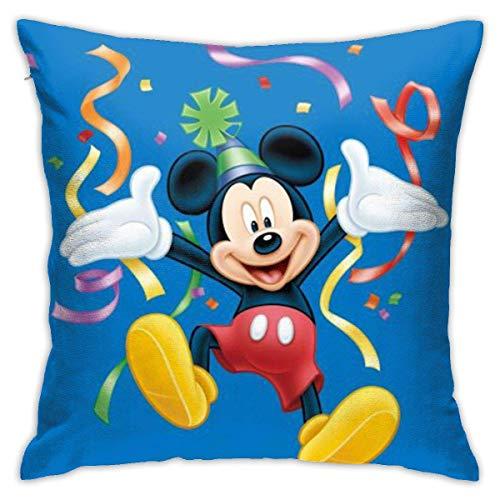 N\A Fundas de Almohada de Mickey-Mouse, Funda de cojín Decorativa de Forma Cuadrada para sofá, Juego de Almohadas