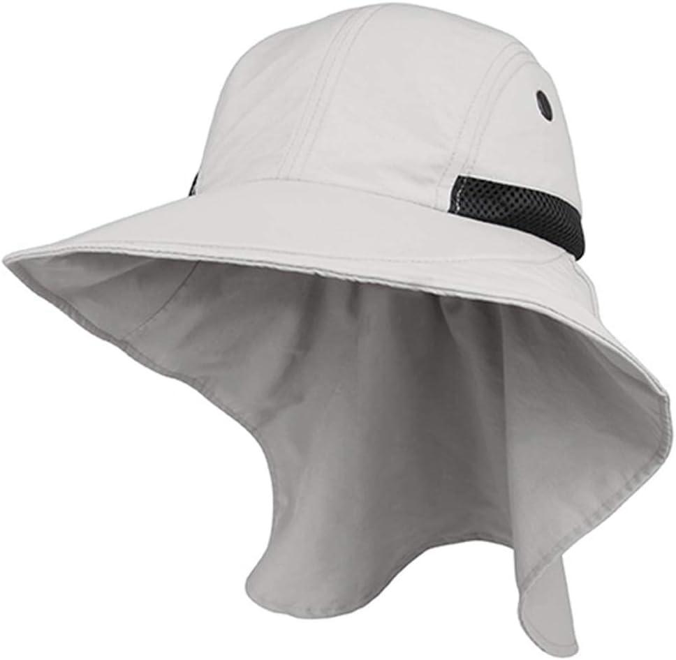 JUNIPER Womens Grey Wide Brim Outdoor Sun Flap Hat
