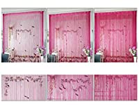 (ADOSSY) ひも カーテン ストリング ライン のれん 上品 装飾 カット可能 薄い ストレート さらさら 飾り物 すだれ 間仕切り (幅 100 × 高さ 200 cm, シャンパーニュ)
