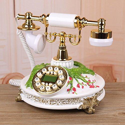 YSNUK Sala de Estar Retro teléfono línea Decoraciones para el hogar Adornos artesanía teléfono Fijo Teléfono rotatorio (Color : A)