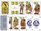 Baraja de Cartas Española de 50 Cartas + Baraja de Poker 55 Cartas, Barajas de Cartas de Plástico Multicolor, Baraja Española, Naipe Español, Juegos de Cartas, Juego Familiar