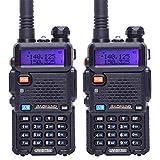 Baofeng UV-5R Tri-Power 8W/4W/1W High Power Dual Band VHF/UHF 136-174/400-520MHz Ham Amateur Portable Two Way Radio Long Range Walkie Talkie Transceiver 2 Pack