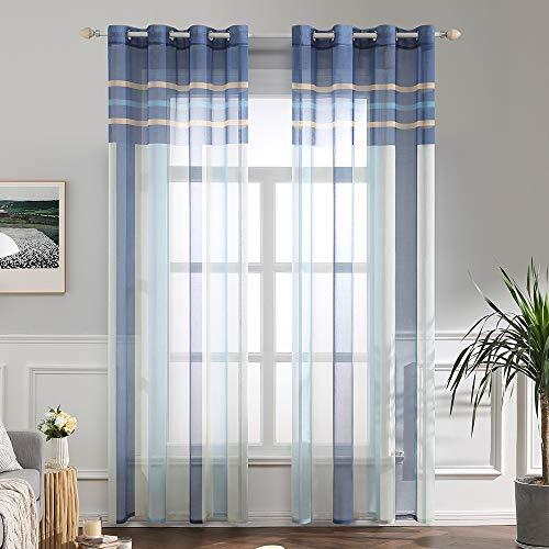cortinas salon translucidas baratas