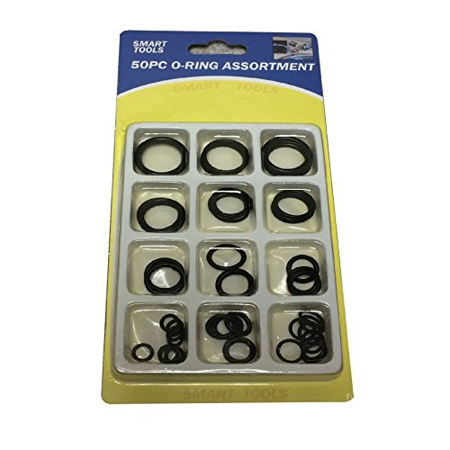 50 x Assorted Rubber O Ring Rings Plumbing DIY Tap Sink Washers Car Seals Air