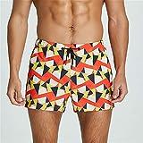 WANGXINQUAN Shorts Casuales para Hombre Impresos Sueltos Bolsillo Playa Pantalones Cortos de Verano Correr Corriendo Ropa Deportiva 2XL Surffing (Color : 4, Size : L)