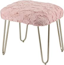 Dressing Table Stool Makeup Vanity Stool Padded Bench Chair for Bedroom and Living Room,46 39 44Cm,Flesh,