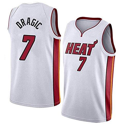 QYAD Camiseta de baloncesto para hombre Dragic, neutral, retro, sin mangas, unisex, uniformes deportivos, uniformes de entrenamiento, camisas deportivas, regalos blanco M
