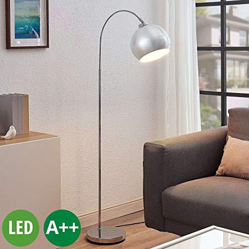 Lindby LED Stehlampe (Bogenleuchte) 'Moisia' (Modern) in Chrom aus Metall u.a. für Wohnzimmer & Esszimmer (1 flammig, E27, A++) - LED-Stehleuchte, Floor Lamp, Standleuchte, Wohnzimmerlampe