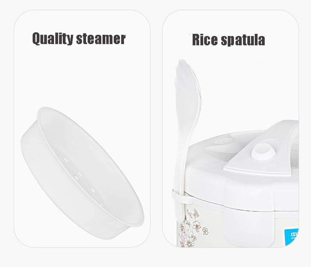 ZXCY 3L Große Kapazität Reis Kocher Multi-Herd Mit Hochwertigem Innentopf Und Warmhalten Haushalts-Stewpot Und Dampfgarer Für 2-4 Personen,d'or White