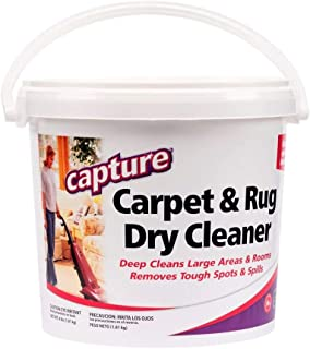 Capture Carpet Dry Cleaner Powder 4 lb – Deodorize Stains Smell Moisture from Rug..