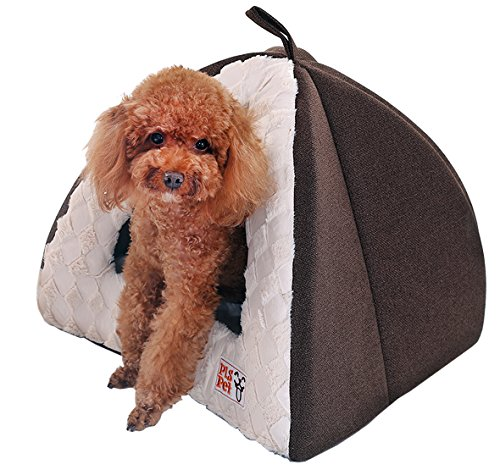 PLS Birdsong Pet Tent Velvet Cuddle Bed, Medium, Soft Dog House, Dog Cave, Cat Cave, Dog Bed, Cat Bed, Dog Beds for Small Dogs