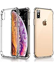 RKINC Funda para Apple iPhone XS MAX, Esquinas reforzadas Funda de TPU de cojín Suave Funda de Silicona Transparente Ultra Fina, Ligera, Flexible y Resistente a los arañazos para Apple iPhone XS MAX