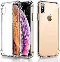 RKINC Case for Apple iPhone X XS, Crystal Clear Reinforced Corners Soft TPU Bumper Cushion + Hybrid Rugged Hard Transparent Panel Cover forApple iPhone X XS
