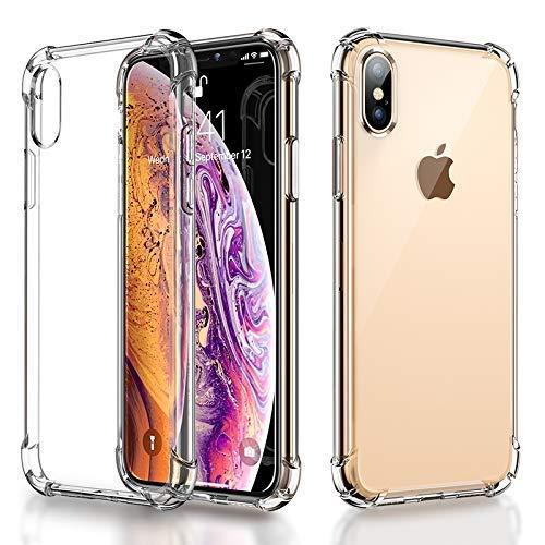 RKINC Funda para Apple iPhone XR 6.1' Funda de Parachoques, (Esquinas Blandas + Dureza Trasera) Funda híbrida, Amortiguador, Cubierta Transparente para Apple iPhone XR 6.1'