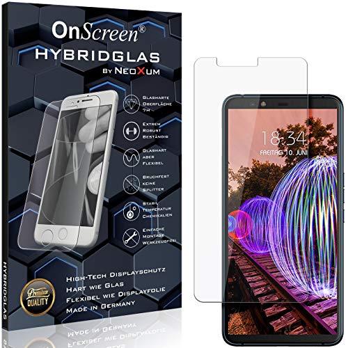 OnScreen Schutzfolie Panzerglas kompatibel mit JVC J20 Panzer-Glas-Folie = biegsames HYBRIDGLAS, Bildschirmschutzfolie, splitterfrei, MATT, Anti-Reflex - entspiegelnd