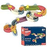DAMAJIANGM Baño para niños Montaje de Bricolaje Orbital Ball-Slip Sliding Play Juguete acuático Colorido 34 Piezas