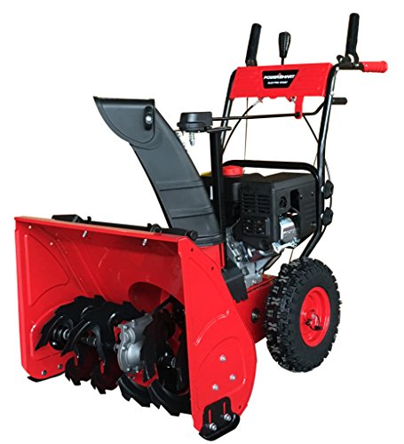 """PowerSmart DB7279 24"""" Two Stage Gas Snow Blower with Electric Start"""