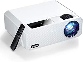 $189 » Native 1080P Projector, Crenova 6800 Lux Home Movie Projector 4K Supported, Full HD LED Video Projector with Dolby, Outdoo...