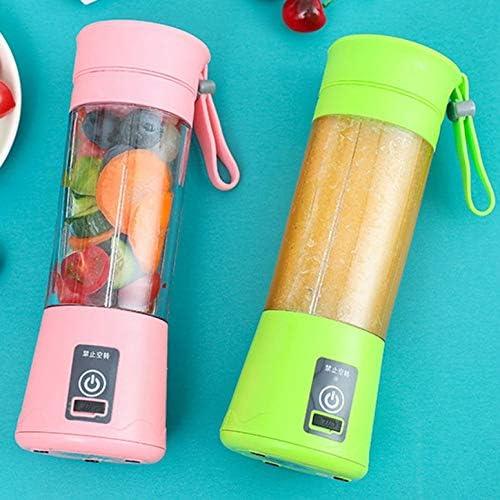 ni Juicer USB recargable multifuncional eléctrico taza de jugo hogar portátil jugo taza fruta exprimidor máquina Green Six Leaves