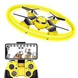 Q8 FPV Drone ከካሜራ HD የቀጥታ ስርጭት እና የምሽት ብርሃን ፣ RC WiFi Drone Quadcopter ከፍ ካለው ከፍታ እና ስበት ዳሳሽ ፣ Toy Drone ለህፃናት እና ለጀማሪ (ቢጫ)