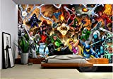 Avengers Fototapete Marvel Comics Wandbild Benutzerdefinierte 3d-tapete Kinder Schlafzimmer Büro Hotel Schulzimmer Dekor Superheld