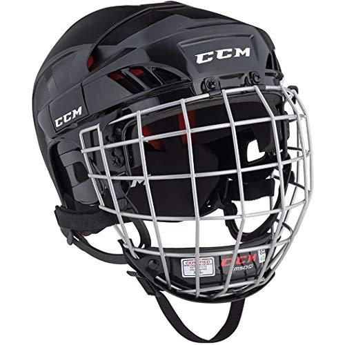 CCM 50 Helm Combo Senior, Größe:S, Farbe:schwarz