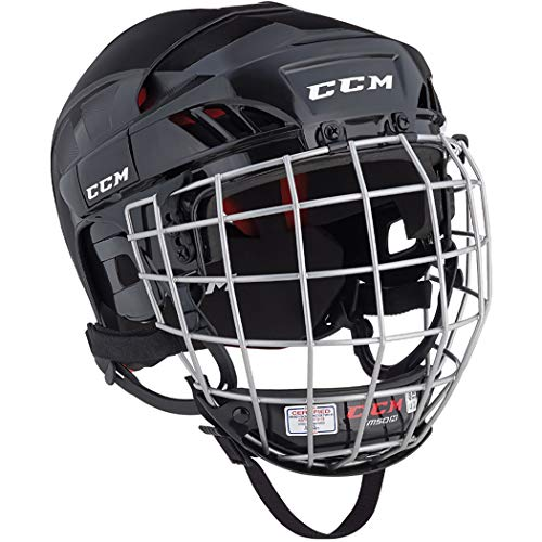 CCM HT50 Hockey Helmet with Cage (Black - X-Small)