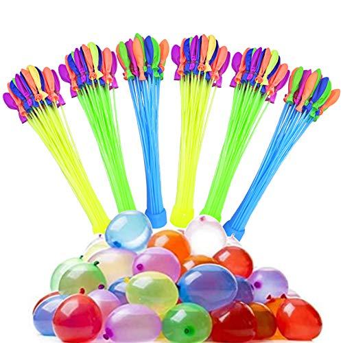 Lunriwis Wasserbomben Bunch Balloons, 222 Stück Wasserballons, 6 Bündel mit je 37 Wasserbomben, Wasserschlacht Luftballons für Kinder, Partys, Geburtstagsgeschenke