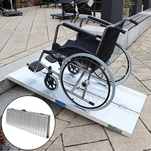 Rollstuhlrampe verschiedene Größen 272 kg klappbar Alu Auffahrrampe Verladerampe Verladerampen Laderampe Laderampen Rampe (152cm)
