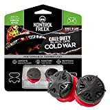 KontrolFreek Call of Duty: Black Ops Cold War Performance Thumbsticks for Xbox One and Xbox Series X | 2 High-Rise, Convex | Black/Red