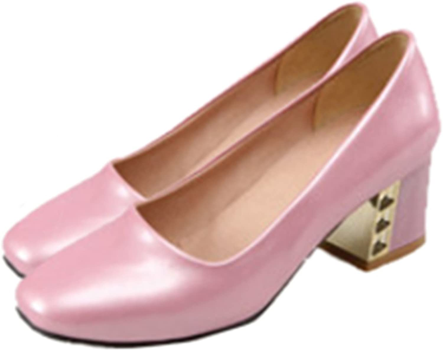 Middle Heel Low-cut Work Thin shoes pink 39