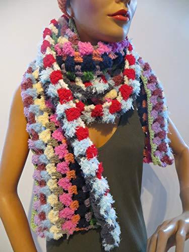 breiter Schal - gehäkelt kuschelweich - Unikat