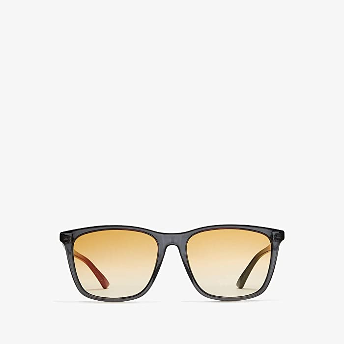 Gucci  GG0404S (Transparent Grey/Orange Gradient) Fashion Sunglasses