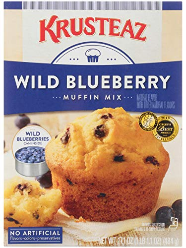 Krusteaz Wild Blueberry Muffin Mix - No Artificial Flavors, Colors or Preservatives - 17.1 OZ (Pack of 2)