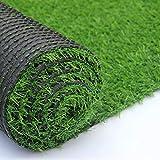 Artificial Grass Outdoor Turf Rug Mat, Fake Grass Carpet Lawn Landscape, 0.8...