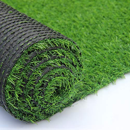 Artificial Grass Outdoor Turf Rug Mat, Fake Grass Carpet Lawn Landscape, 0.8 inch Pile Height (6.56ftx13.12 =86.07 Square ft)