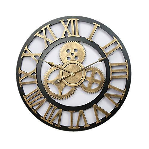 LUOYLYM Reloj De Pared American Retro 60Cm Gear Clock Creative Roman Reloj De Pared Decorativo