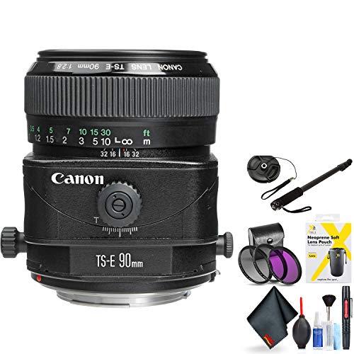 Canon Ts-E 90mm F/2.8 Tilt-Shift Lens for Canon 6D, 5D Mark IV, 5D Mark III, 5D Mark II, 6D Mark II, 5Dsr, 5Ds, 1Dx, 1Dx Mark II + Accessories (International Model)