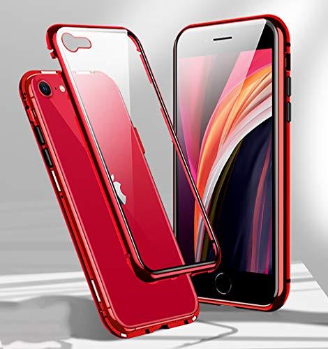 Funda para iPhone SE 2020 Magnética Carcasa,360° Funda Protectora de Cuerpo Completo,Rugged...