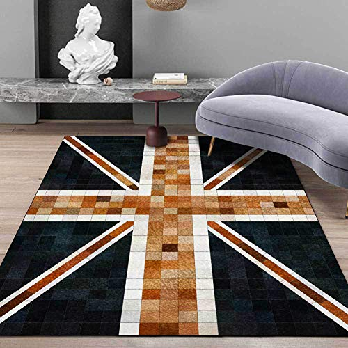 TALSOFA Classic England Print Carpet Living Room Sofa Table Non-Slip Floor Mat Hallway Children Bedroom Bedside Play Tent Tapete,40x120cm