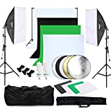 OUBO Estudio Fotográfico Kit Completo Estudio de la Iluminación Contínua Softbox 2*135W...