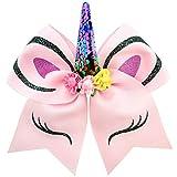 DIWULI, Einhorn Haarschmuck, süßer Haargummi, Kopfschmuck pink, Unicorn Haarband für Geburtstag,...