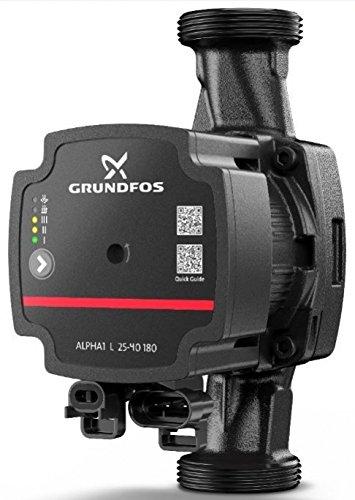 Grundfos Circulators Alpha1 L 25-40 180 Duo Pack (2-er), 230 V, 50/60 Hz, schwarz