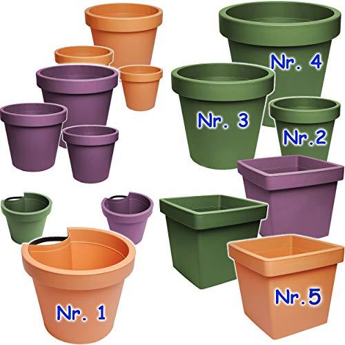 alles-meine.de GmbH Rohr & Stangen - Blumenkasten - lila - violett - RUND - 24 cm - Regenrinnenblumentopf - Regenrohr / Fallrohr - Pflanzgefäß - Geländer / Zaun - Blumentopf / Pf..