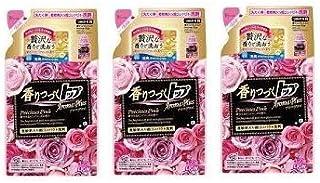 【まとめ買い】香りつづくトップ アロマプラス 洗濯洗剤 液体 プレシャスピンク 詰め替え 320g × 3個