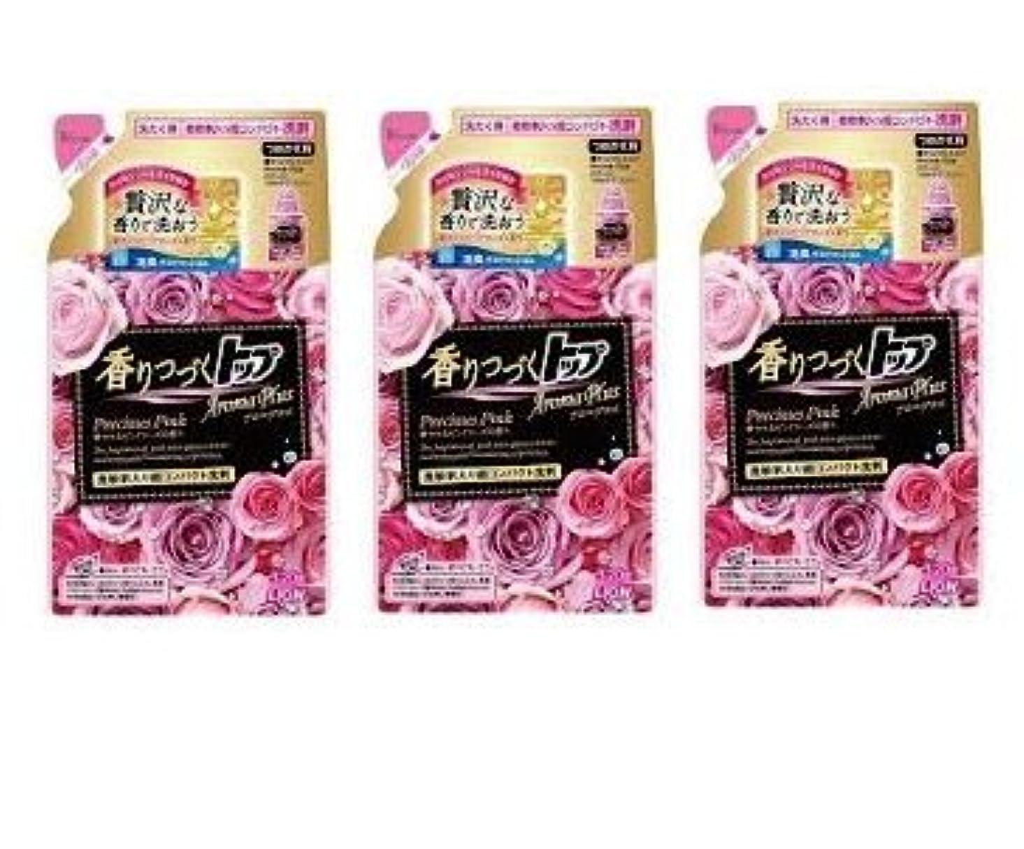 超えてドメイン識別する【まとめ買い】香りつづくトップ アロマプラス 洗濯洗剤 液体 プレシャスピンク 詰め替え 320g × 3個