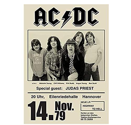 Póster Póster Vintage Rare Band Rock Posters Concierto Tour Música-