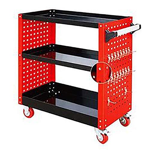 HO-TBO Tool Cart, Open Deur Met Lock Lade Reparatie Trolley Box Heavy-duty Tin Auto Reparatie Gereedschapskar Werkstation Gereedschapskist