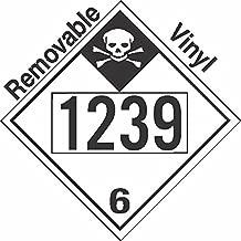 GC Labels-P335c1239, Inhalation Hazard Class 6.1 UN1239 Removable Vinyl DOT Placard, Package of 50 Placards